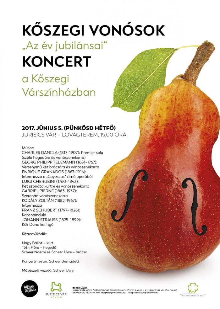 Kőszegi Vonósok koncertje plakát
